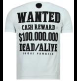 Local Fanatic Rhinestones Beagle Boys - Rolig T-shirt Man - 6319W - Vit