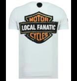 Local Fanatic Dynamite Coyote Rhinestones - Party T-shirt Herr - 6320W - Vit
