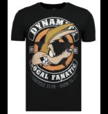 Local Fanatic Dynamite Coyote - Tryckt T-shirt Herr - 6320Z - Svart