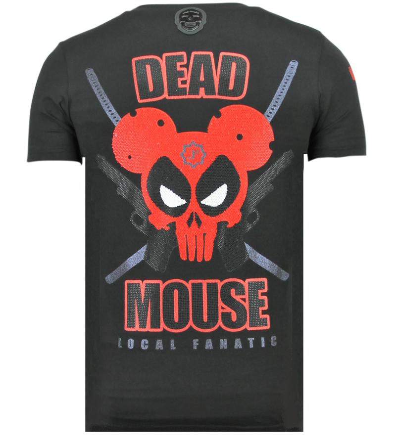 Local Fanatic Psycho Mouse - Tryckt T-shirt Herr - 6321Z - Svart