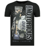 Local Fanatic King Notorious Rhinestones - Slim fit T shirt Herr - 6324Z - Svart