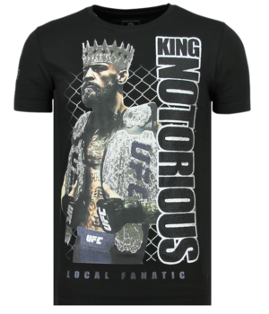 Local Fanatic King Notorious Rhinestones - Slim fit T shirt Herr - 6324Z - Svart