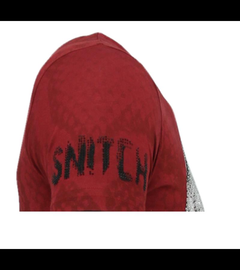 Local Fanatic Skull Snake Rhinestones - T-shirt Herrar Dödshuvudet - 6326B - Bordeaux