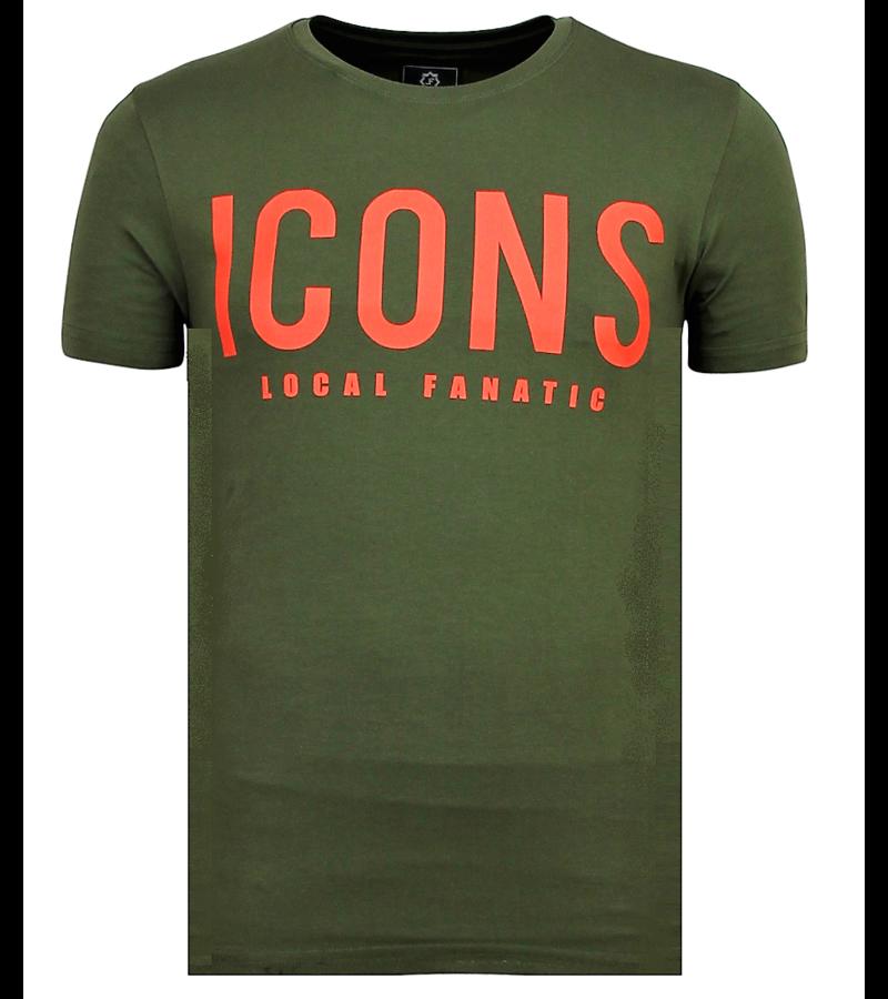Local Fanatic T Shirt ICONS Print - Beställa Kläder Med Tryck - 6361G - Grun
