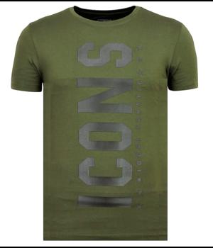 Local Fanatic ICONS Vertical T shirt - Billiga Sommarkläder Herr - 6362G - Grön