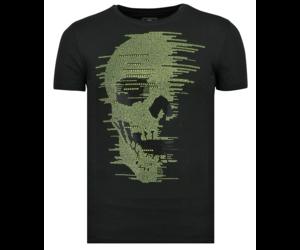 Skull Glitter Rhinestones | Lång Tröja Herr | Styleitaly.se