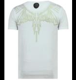 Local Fanatic Eagle Glitter Rhinestones - Coola Kläder För Herr - 6359W - Vit