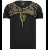 Local Fanatic Eagle Glitter Rhinestones - Coola Kläder För Män - 6359Z - Svart
