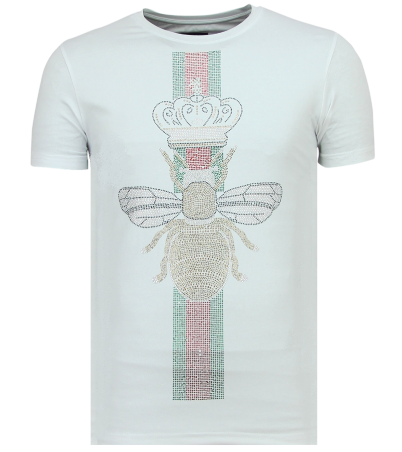 Local Fanatic King Fly Glitter - Snygga Tröjor För Herr - 6360W - Vit