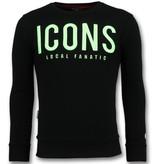 Local Fanatic ICONS Sweater Herr - Tröjor Män - 6349Z - Svart
