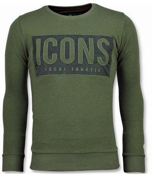 Local Fanatic Tröjor ICONS Block  -  Trevlig Tröja Herrar - 6355G - Grön