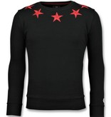 Local Fanatic Five Stars Tröjor Herr - Sweatshirts For Men - 6354Z - Svart