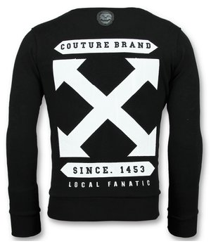 Local Fanatic Off Cross Sweater  - Sweatshirt Herr New - 6356Z - Svart