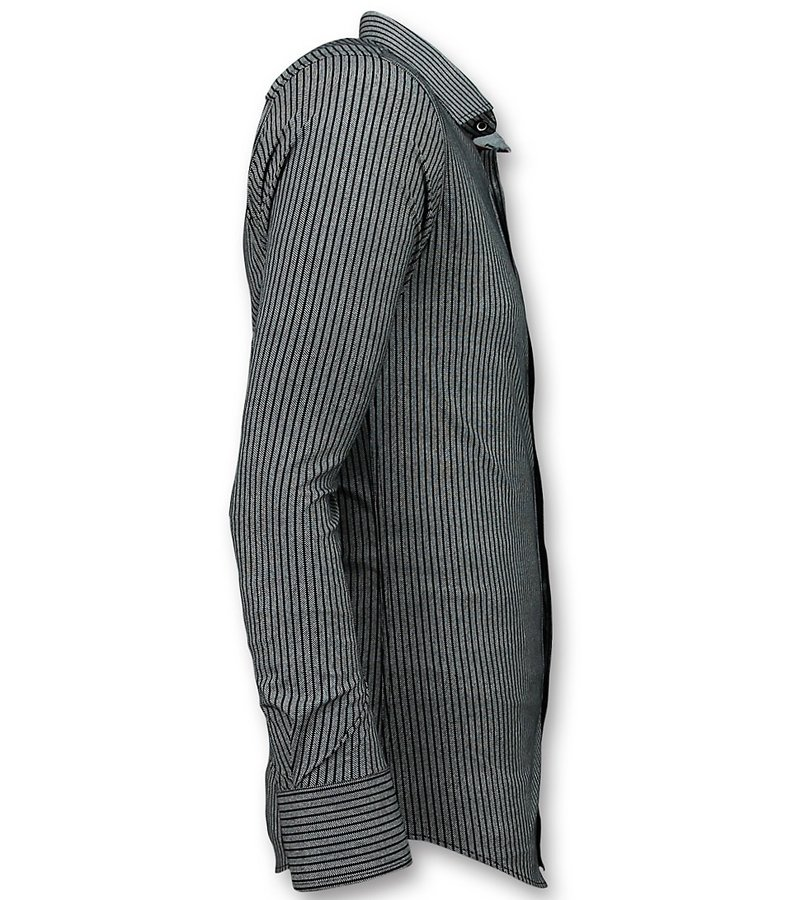 Gentile Bellini Herrtröjor För Män - Stripes Blouse - 3030 - Blå