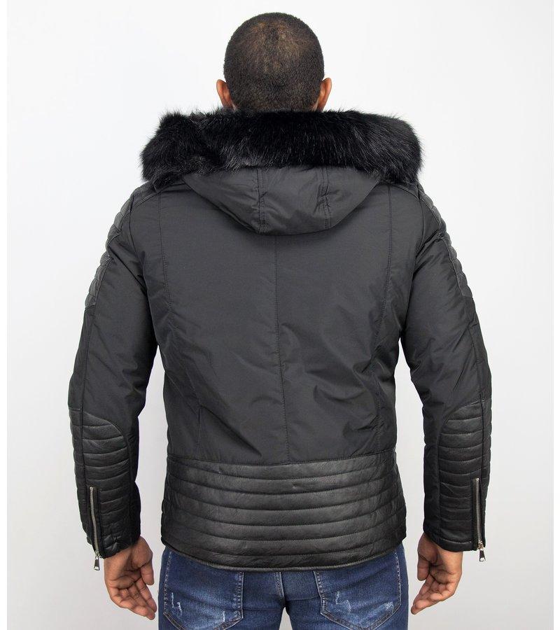 Enos Bästa Vinterjackan - Jackor Med Stor Päls - PI-868Z - Svart