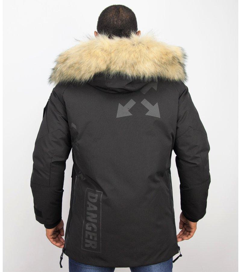 Enos Vinterjacka Fake Pälskrage - Exklusiva Vinterjackor - PI-9803Z - Svart