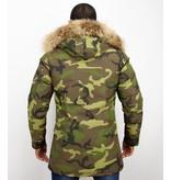 Y chromosome Camouflage Parka - Vinterjacka Lång Herr - P-213C - Grön