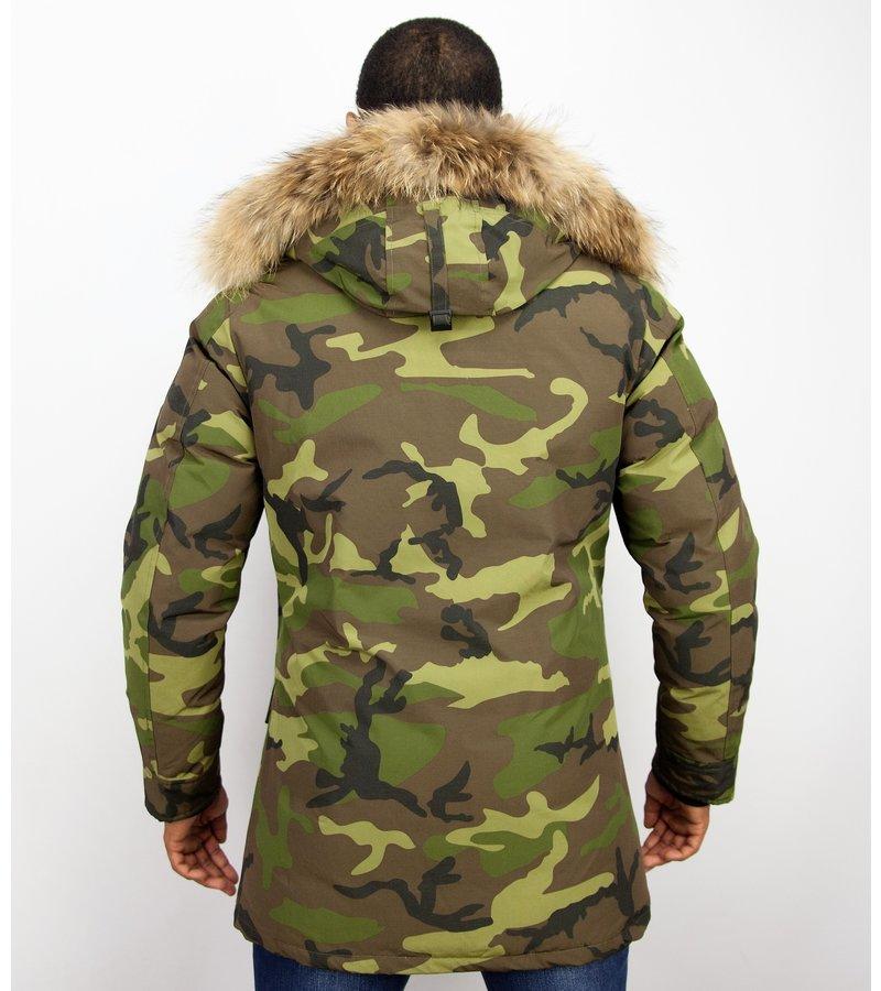 Camouflage Parka | Vinterjacka Lång Herr | Styleitaly.se