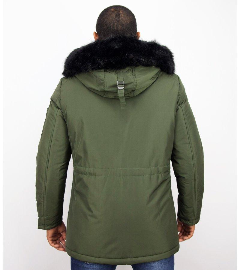 Enos Exclusive Button Parka - Vinterjackor Varma - PI-8658G - Grön