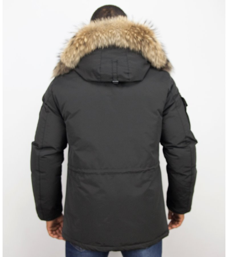 Beluomo Expedition Parka Man - Vinterjackor Herr Mode - 7503Z - Svart