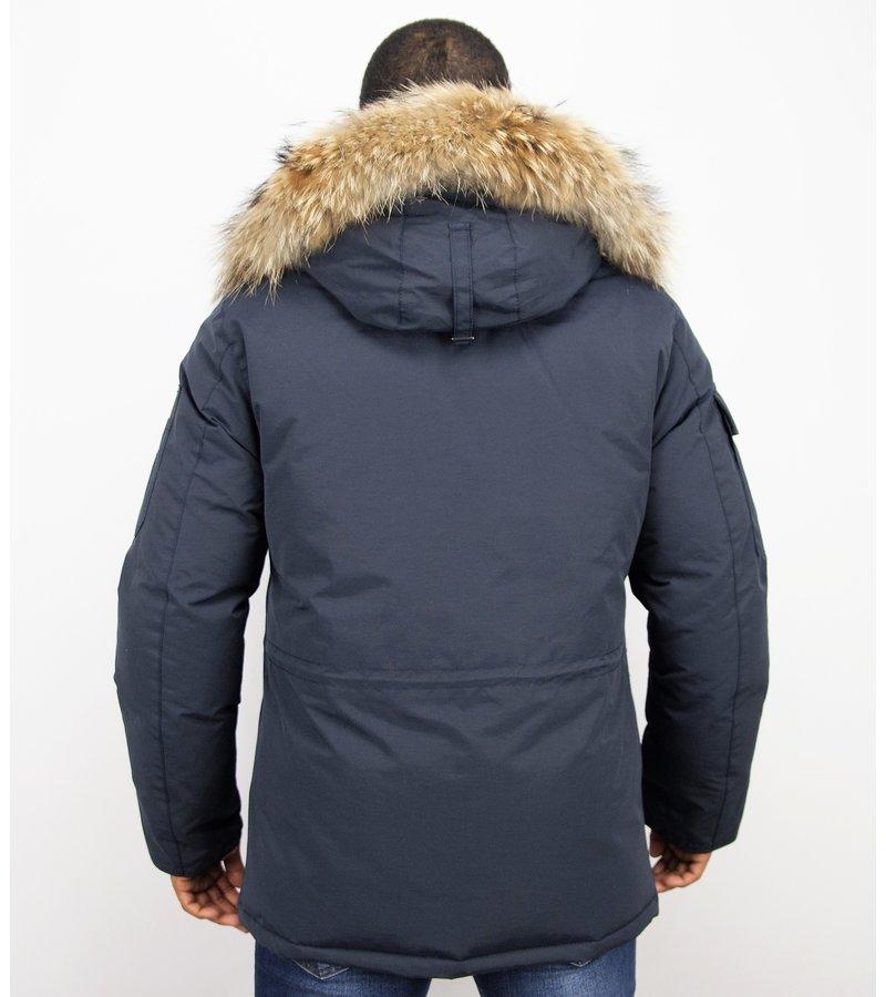 Beluomo Man Expedition Parka - Vinterjackor Herr Mode - 7503B - Blå