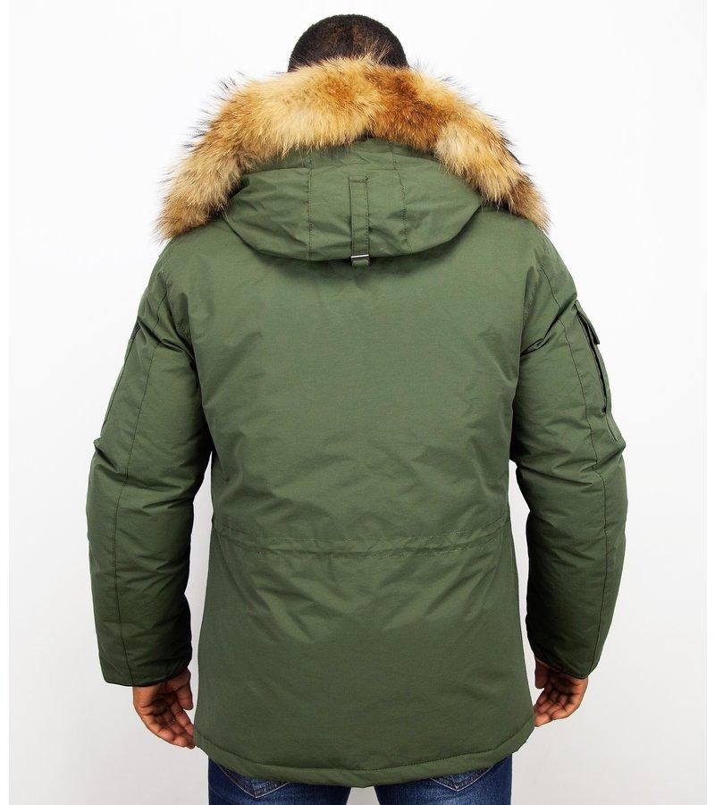 Beluomo Man Expedition Parka - Herr Vinterjackor Mode - 7503G - Grön