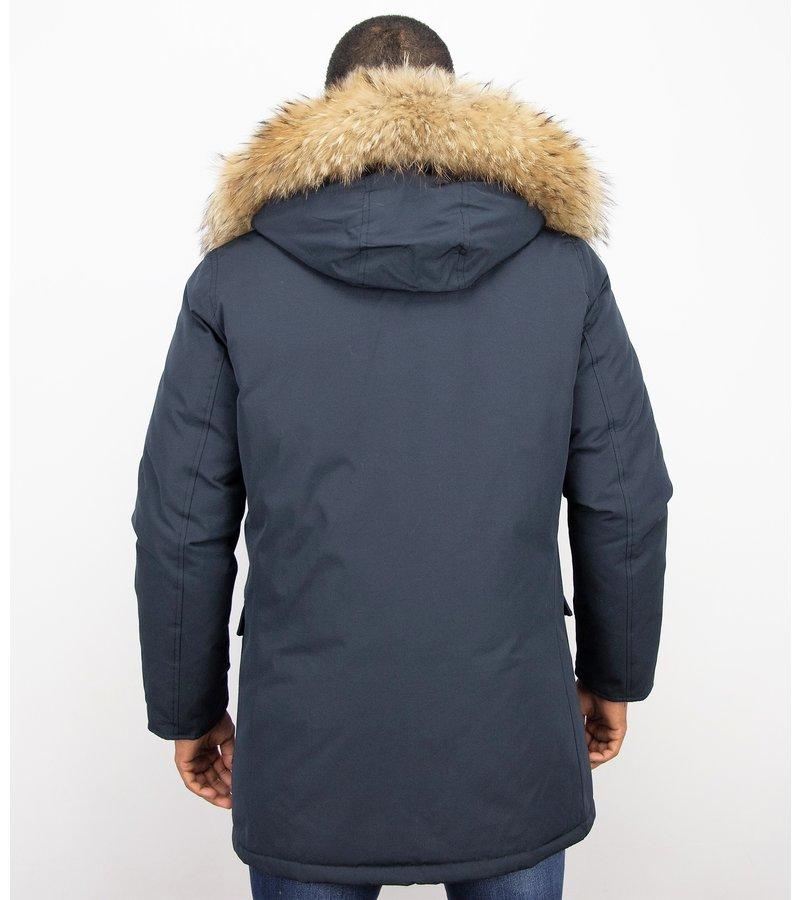 Enos Vinterjackor Wooly Långa - Parka 4 Pocket - PI-7003B - Blå