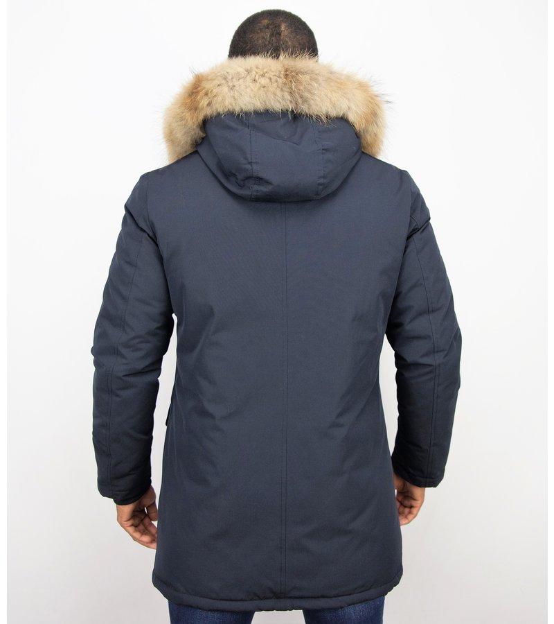 Enos Vinterkappa Klassisk Herr  - Varma Snygga Jackor - PI-7012N  - Blå