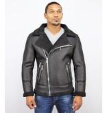 Frilivin Lammy Coat Herrjacka - Fake Fur Jacka - QQ510 - Svart