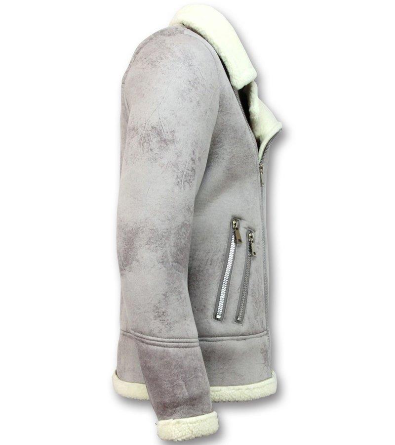Frilivin Shearling jacket Herr - Fake Fur Jacka  - Grå
