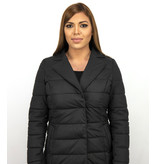 Adrexx Lång jacka med faux fur jacket - Parkas Dam - Svart