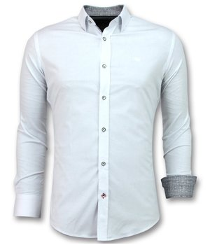 Gentile Bellini Italian Blouse Men - Slim Fit Skjortor - 3034 - Vit