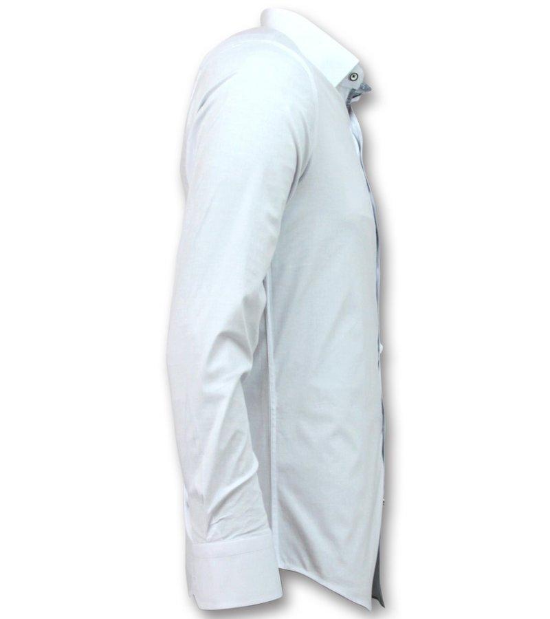 Gentile Bellini Italian Blouse Men - Slim Fit Skjortor - 3034 - Vit