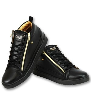 Cash Money Herr Sneaker - Bee Black Gold V2- CMS98 - Svart