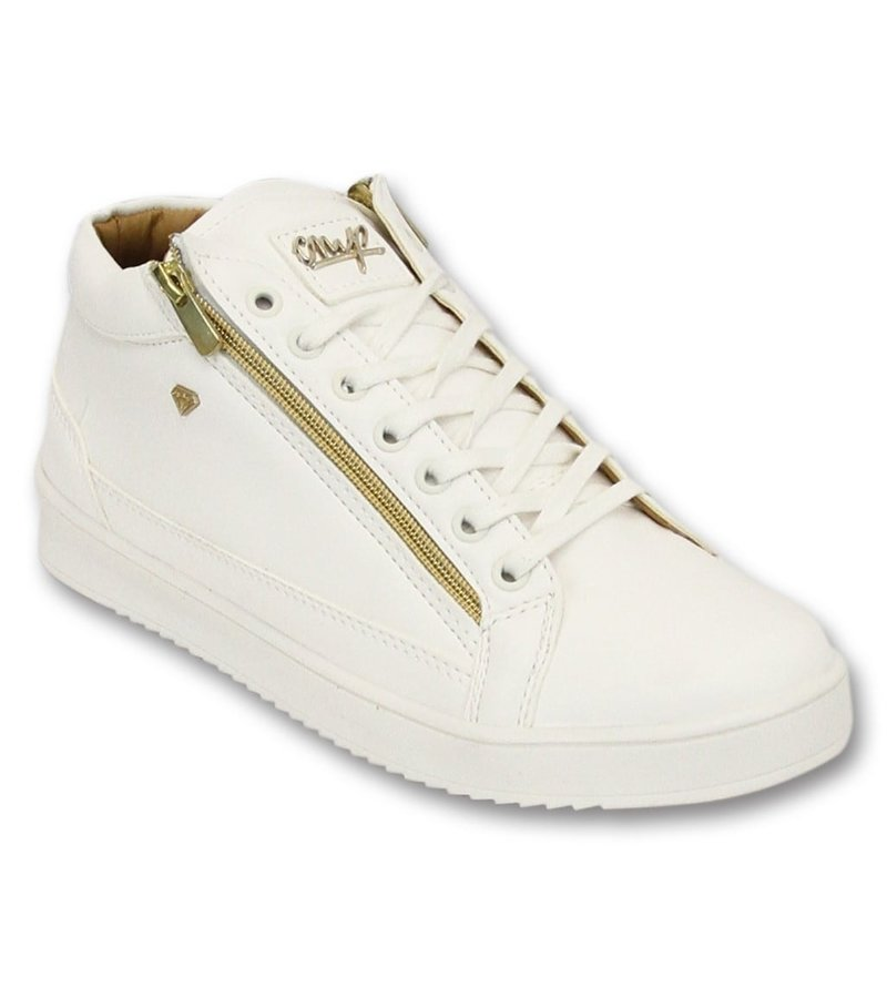 Cash Money Män Sneaker - Bee vitguld 2- CMS98 - Vit