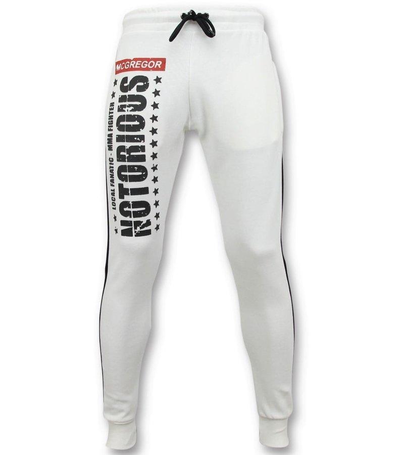 Local Fanatic Exklusiv Pant Män - McGregor Notorious Sweat Pants - Vit