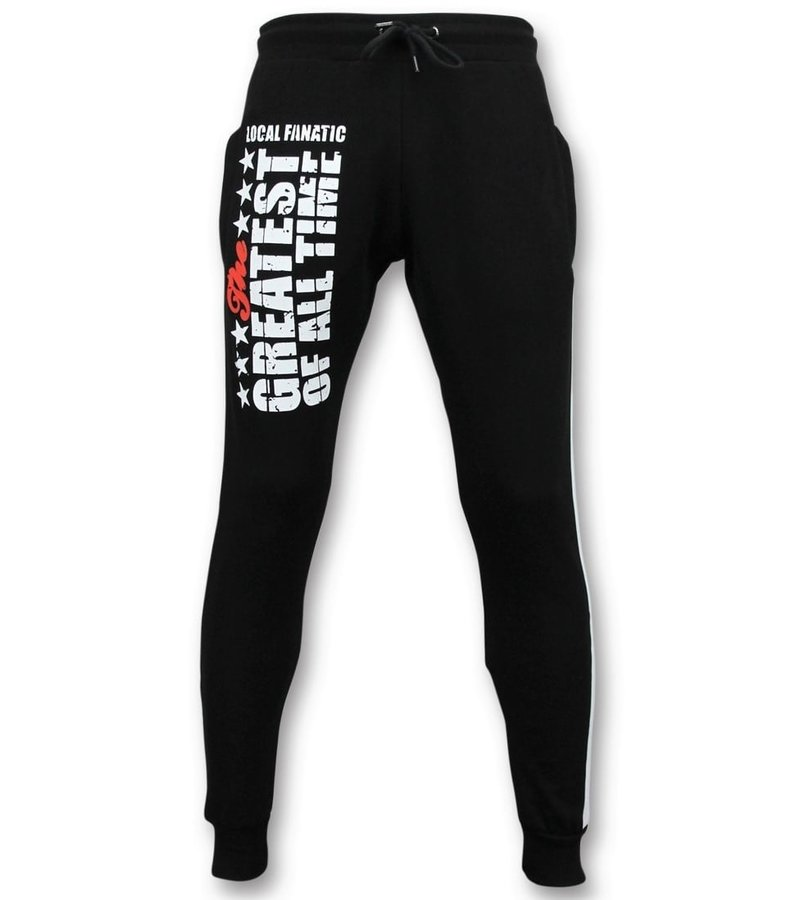 Local Fanatic Exklusiv Sweat Pants Män - Muhammad Ali Training Pants - Svart