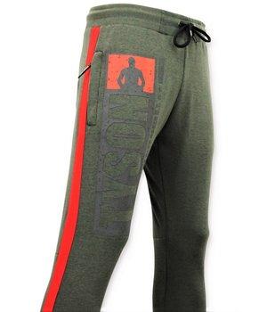 Local Fanatic Exklusiv Sweat Pants Män - Mike Tyson Training Pants - Grön