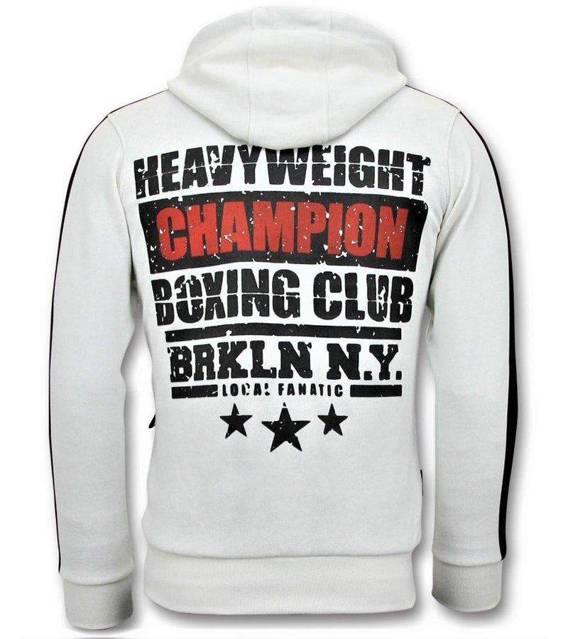 Local Fanatic Exklusiv Training Vest Män - Iron Mike Tyson Boxing - Vit