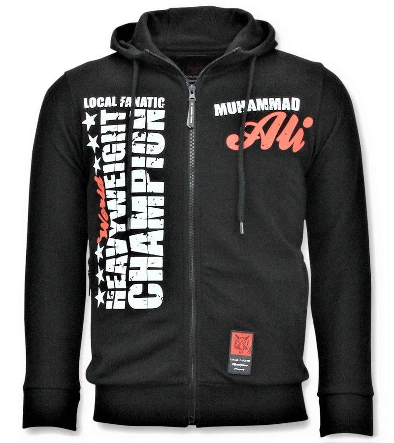 Local Fanatic Exklusiv Sport Vest Män - Muhammad Ali Champion Print - Svart