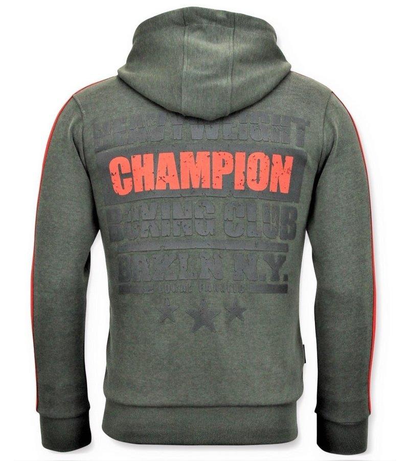 Local Fanatic Exklusiv Män s träningsoverall - Iron Mike Tyson Boxing - Grön