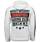 Local Fanatic Exklusiv Män jogging - Iron Mike Tyson Boxing - Vit