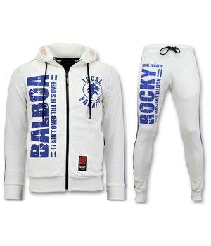 Local Fanatic Exklusiv Män s träningsoverall - Rocky Balboa Sports Pack - Vit