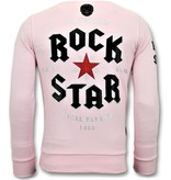 Local Fanatic Lyx Pullover - Rock My World Cat - Pink