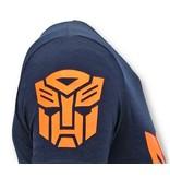 Local Fanatic Cool T-shirt Män - Transformers Print - Blå