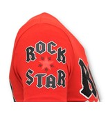 Local Fanatic Exklusiv T-shirt Män - Rock My World Cat - Röd