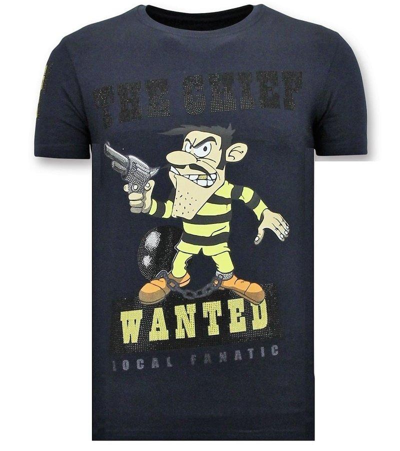 Local Fanatic T-shirt Män Seal - Chief Wanted - 11-6367B Blå