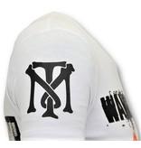 Local Fanatic Cool T-shirt Män - Andjakt Gun - 11-6368W - Vit