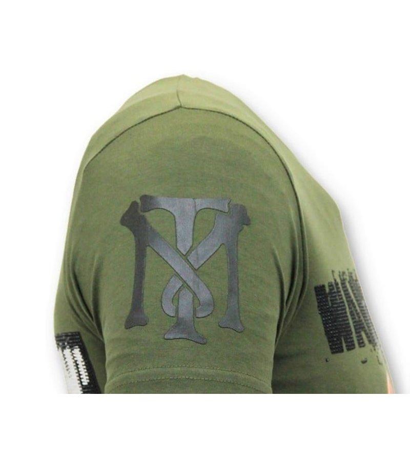 Local Fanatic Exklusiv T-shirt Män - Andjakt Gun - 11-6368G - Grön