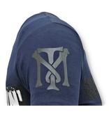 Local Fanatic Män T shirt Tryck - Andjakt Gun - 11-6368B - Blå
